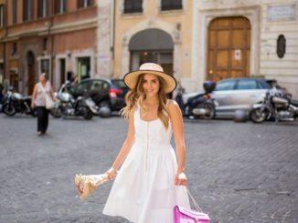 Stylizacje z białą sukienką