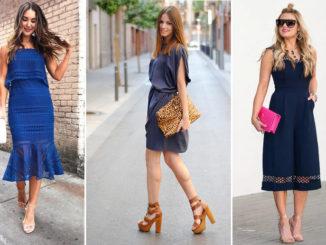 Jakie buty pasują do granatowej sukienki?