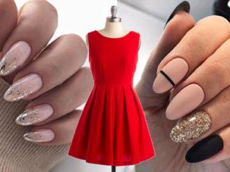 Jakie paznokcie do czerwonej sukienki?