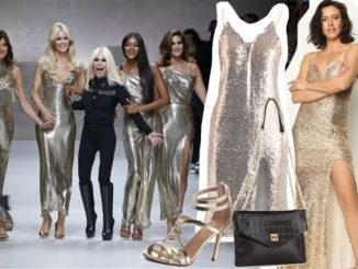 Jakie buty założyć do złotej sukienki?