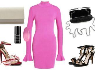 Różowa sukienka – dodatki