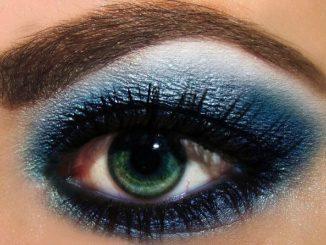 Niebieski makijaż oczu – zasady