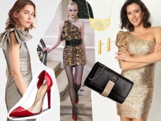 Jak dobrać dodatki do złotej sukienki?