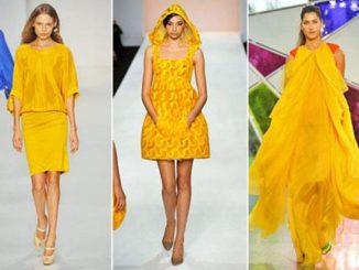 Jakie dodatki do żółtej sukienki?