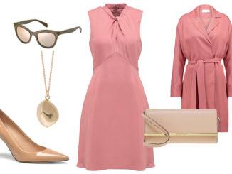 Jakie dodatki do różowej sukienki?