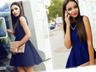 Jakie dodatki pasują do niebieskiej sukienki?